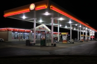 Current nighttime view of Beachler's Shell Gas Station